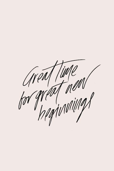 Time for Beginnings