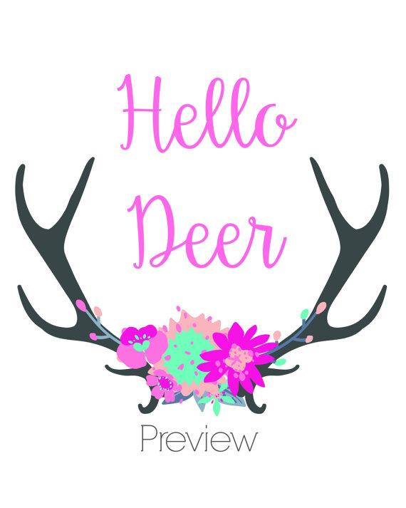 hello deer, mama designed