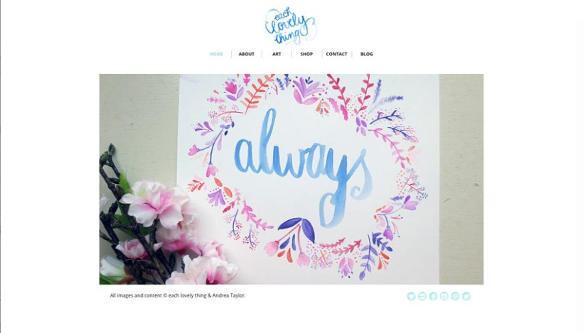 each lovely thing site